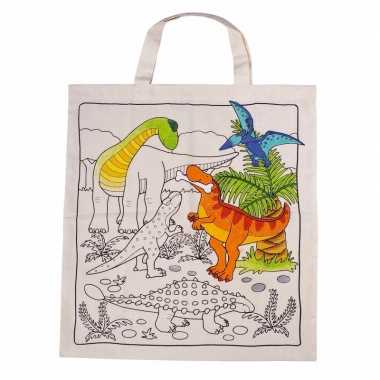 Groothandel tasje met dinosaurus motief van katoen speelgoed kopen