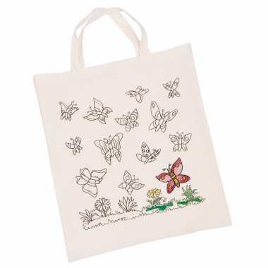 Groothandel tasje met vlinder motief van katoen speelgoed kopen