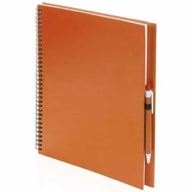 Groothandel tekeningen maken schetsboek a4 oranje kaft speelgoed kopen