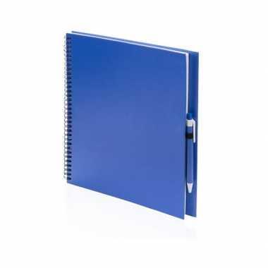 Groothandel tekeningenboek blauw met pen speelgoed kopen