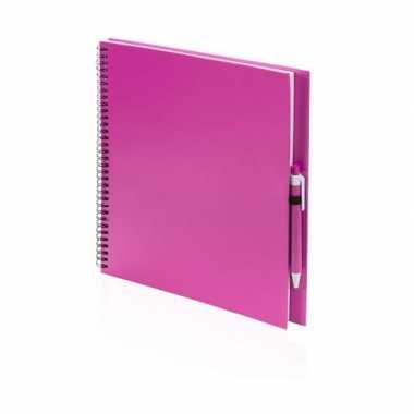 Groothandel tekeningenboek roze met pen speelgoed kopen