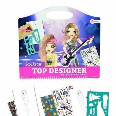 Groothandel tekenset kleding ontwerpen rockstar creatief speelgoed ko
