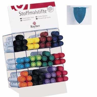 Groothandel textielstift blauw met dikke punt speelgoed kopen