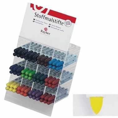 Groothandel textielstift geel met dunne punt speelgoed kopen