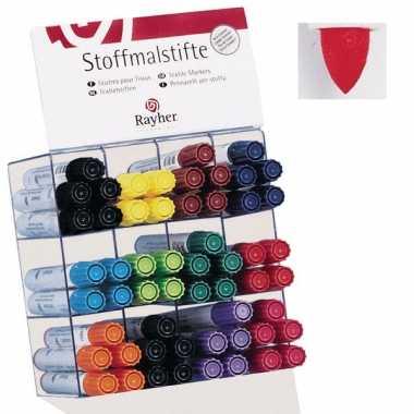Groothandel textielstift rood met dikke punt speelgoed kopen
