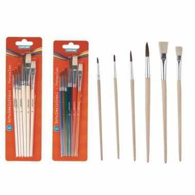 Groothandel tiptop penselen 6 stuks speelgoed kopen
