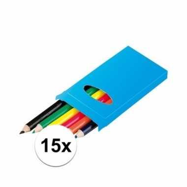 Groothandel traktatie speelgoed doosjes potloden 15 stuks kopen