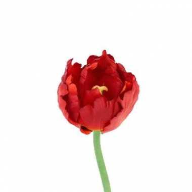 Groothandel tulp rood deluxe 25 cm kunstbloem speelgoed kopen