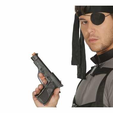 Groothandel verkleed fbi pistool/wapen zwart 19 cm speelgoed kopen