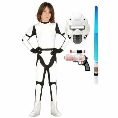 Groothandel verkleed witte ruimte soldaat kostuum maat 110 116 voor kinderen speelgoed
