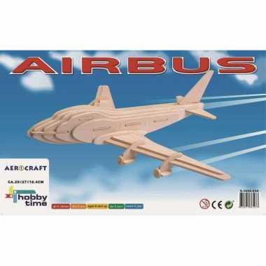 Groothandel vliegtuigje boeing 747 3d puzzel bouwpakket houten speelg