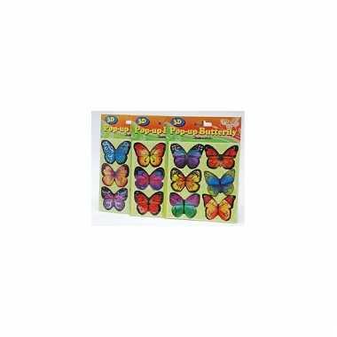 Groothandel vlinder stickertjes 6 stuks speelgoed kopen