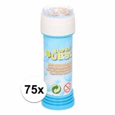 Groothandel voordelige bellenblaas 50 ml 75x speelgoed kopen