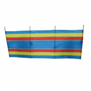 Groothandel windscherm blauw met streepjes 240 x 90 cm speelgoed kope