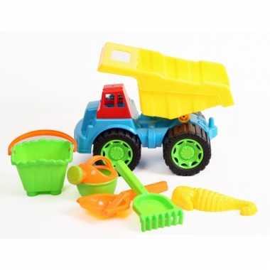 Groothandel zand speelset met kiepwagen 6 delig speelgoed