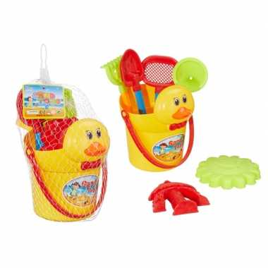 Groothandel zandkasteel eendenemmer strandset 7-delig speelgoed kopen