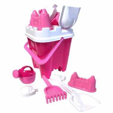 Groothandel zandkasteel strandset roze speelgoed kopen