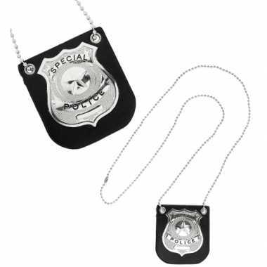 Groothandel zilveren politie badge aan ketting speelgoed kopen