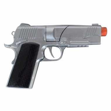 Groothandel zilveren speelgoed pistool 8 shots kopen