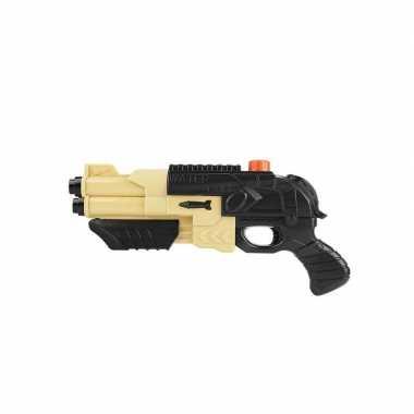 Groothandel zwart beige speelgoed leger waterpistool 42 cm kopen