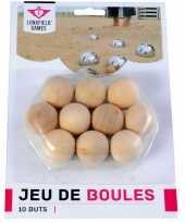 Groothandel 10x jeu de boules petanque houten cochonnets buts markerings reserve balletjes 30 mm buitenspeelgoed