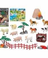 Groothandel 10x plastic boerderijdieren speelgoed figuren voor kinderen