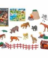 Groothandel 10x plastic safaridieren speelgoed figuren voor kinderen