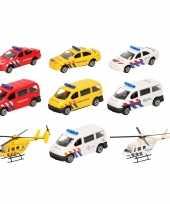 Groothandel 112 diensten wagens uitgebreide speelgoed set 10 delig die cast
