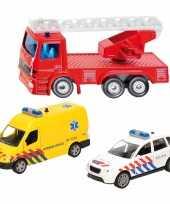 Groothandel 112 diensten wagens uitgebreide speelgoed set 3 delig die cast