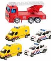 Groothandel 112 diensten wagens uitgebreide speelgoed set 5 delig die cast