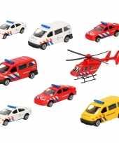 Groothandel 112 diensten wagens uitgebreide speelgoed set 8 delig die cast