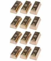 Groothandel 12 stuks magneetjes goudstaaf 6 cm speelgoed