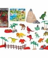 Groothandel 12x plastic dinosaurussen speelgoed figuren voor kinderen