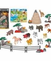 Groothandel 12x plastic safaridieren speelgoed figuren voor kinderen