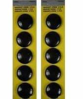 Groothandel 20x stuks ronde hobby magneten zwart 40 mm speelgoed