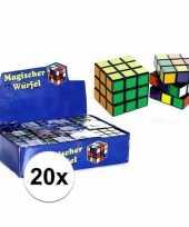Groothandel 20x uitdeel speelgoed puzzel kubussen 7 cm