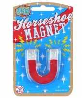 Groothandel 2x stuks hoefijzer speelgoed magneten 8 cm