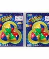 Groothandel 3 gekleurde jongleer balletjes speelgoed