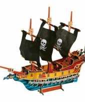 Groothandel 3d puzzel piratenschip van hout speelgoed