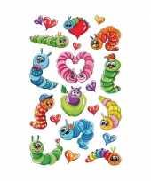 Groothandel 3d stickers kleurrijke rupsen speelgoed