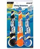 Groothandel 3x duik speelgoed ballen streamers met werplint