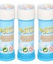 Groothandel 3x flesjes busjes bellenblaas 50 ml gekleurd flesje speelgoed