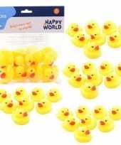 Groothandel 40x speelgoed badeendjes geel 6 cm