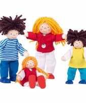Groothandel 4delige set poppetjes familie speelgoed