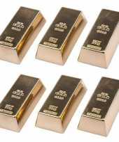 Groothandel 6 stuks magneetjes goudstaaf 6 cm speelgoed