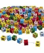 Groothandel 650x houten armband letter blokjes gekleurd speelgoed