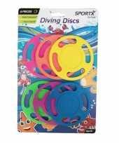 Groothandel 6x duiken speelgoed duikringen gekleurd