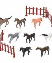 Groothandel 8x plastic paardjes speelgoed figuren voor kinderen