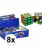 Groothandel 8x uitdeel speelgoed puzzel kubussen 7 cm