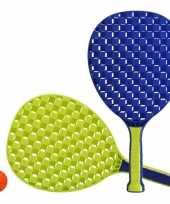 Groothandel actief speelgoed tennis beachball setje blauw groen